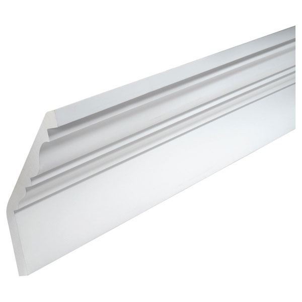 "12 1/8""H x 7 1/8""P, 12' Length, Crown Fascia Moulding"