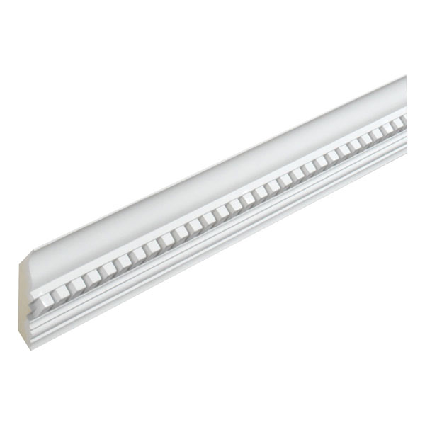 "2 11/16""H x 2 15/16""P Crown Dentil, 8' Length"