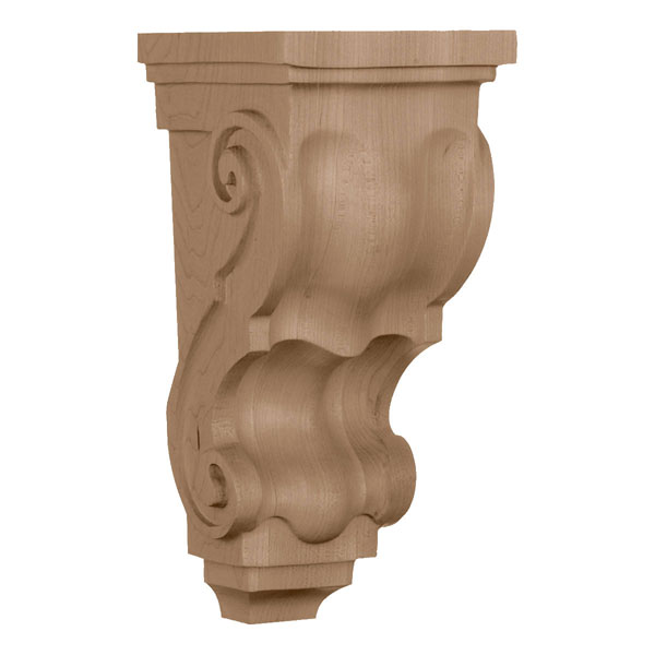 "4 1/2""W x 5""D x 10""H, Medium Traditional Corbel"