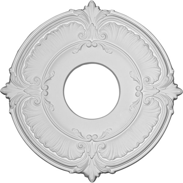 "12 3/4""OD x 3 1/2""ID x 1/2""P Attica Ceiling Medallion (Fits Canopies up to 3 1/2"")"