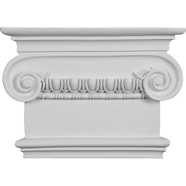 "7 1/2""W x 8 1/2""H x 2 1/2""P Classic Ionic Large Onlay Capital (Fits Pilasters up to 5 1/4""W x 1 1/8""D)"