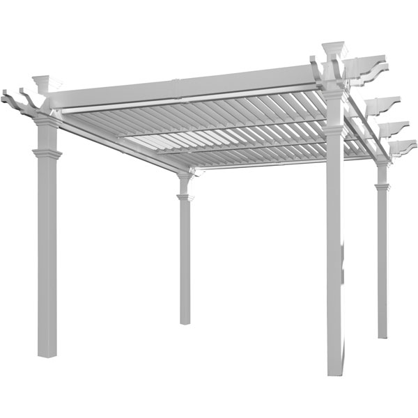 "110""W x 100""H x 110""D Avalon Louvered Pergola"