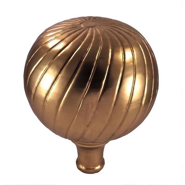 "10""W x 10""D x 12 1/2""H Large Parisian Finial, Brass Plated"