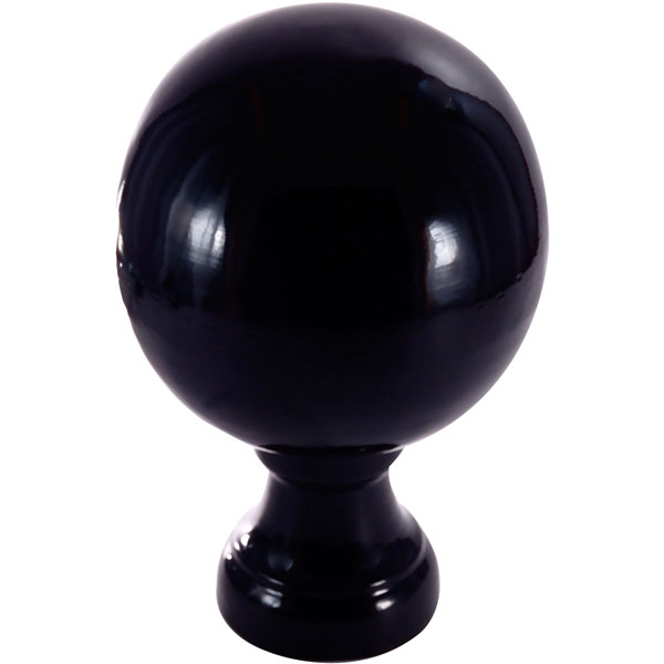 "10""W x 10""D x 14 1/2""H Large Londoner Finial, Black Gloss"