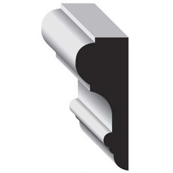 Wainscot Systems CRL-8 3 3/16-Inch Chair Rail 7ft