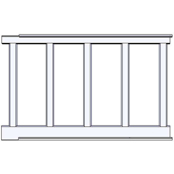 "Recessed, Wall Paneled Wainscot Kit, 60"" High"