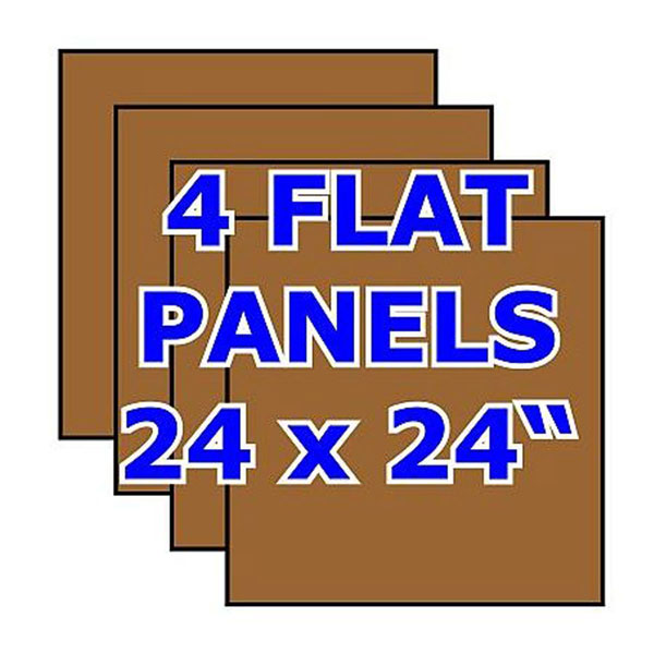 Pack of 4 Oak Flat Panels -- no stiles