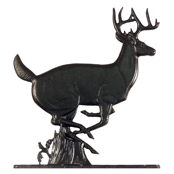"10 3/4""W x 9 1/2""H Buck Mailbox Ornament, Black"