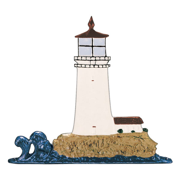 "9 3/4""W x 11""H Lighthouse Mailbox Ornament, Color"