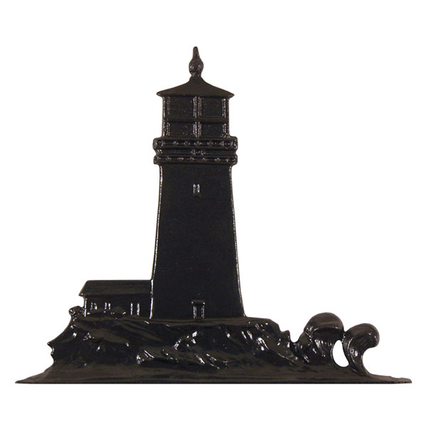 "9 3/4""W x 11""H Lighthouse Mailbox Ornament, Black"