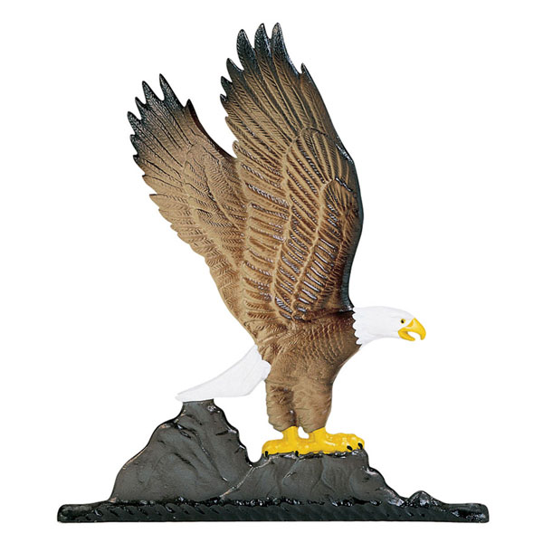 "11 1/4""W x 9 3/4""H Eagle Mailbox Ornament, Color"