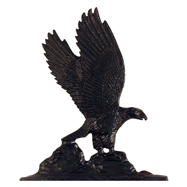 "11 1/4""W x 9 3/4""H Eagle Mailbox Ornament, Black"