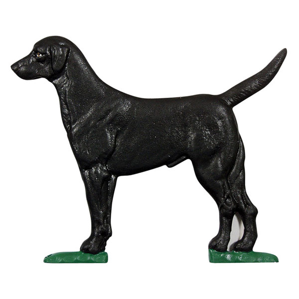 "10 1/4""W x 8 1/2""H Black Lab Mailbox Ornament, Color"