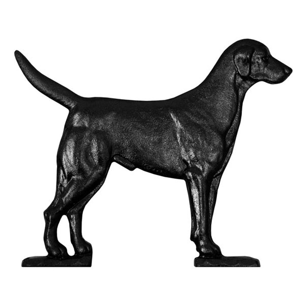 "10 1/4""W x 8 1/2""H Black Lab Mailbox Ornament, Black"