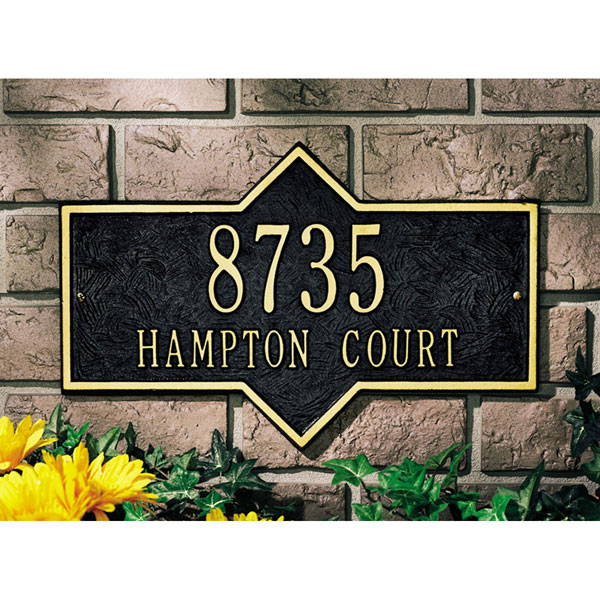 "15 3/4""W x 10 3/4""H Hampton Two Line Wall Plaque"