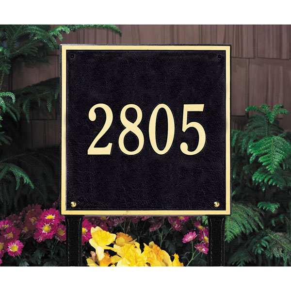 "15""W x 15""H Square One Line Lawn Plaque"