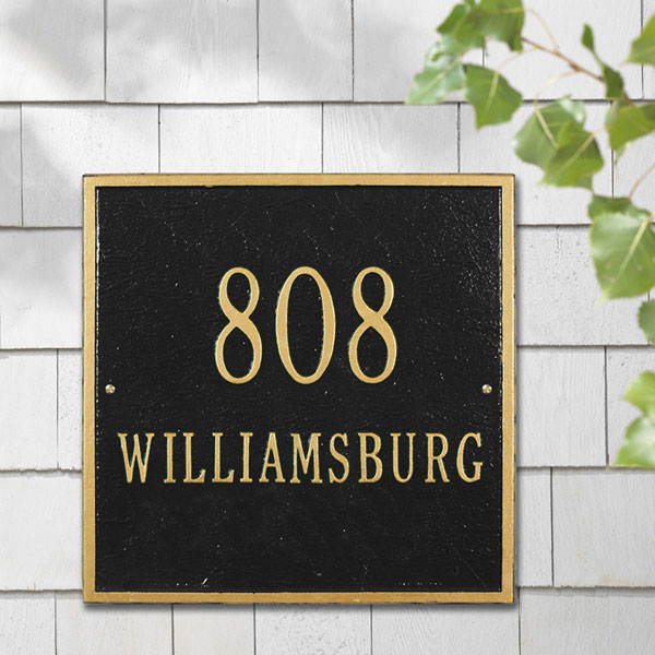 "11""W x 11""H Square Two Line Wall Plaque"