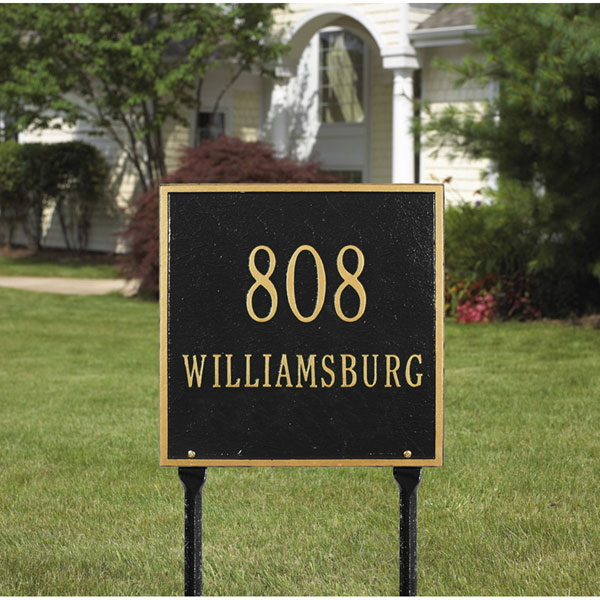 "11""W x 11""H Square Two Line Lawn Plaque"