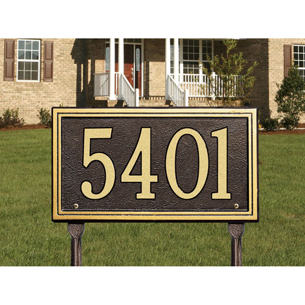 "13""W x 7 1/4""H Smooth Border One Line Lawn Plaque"