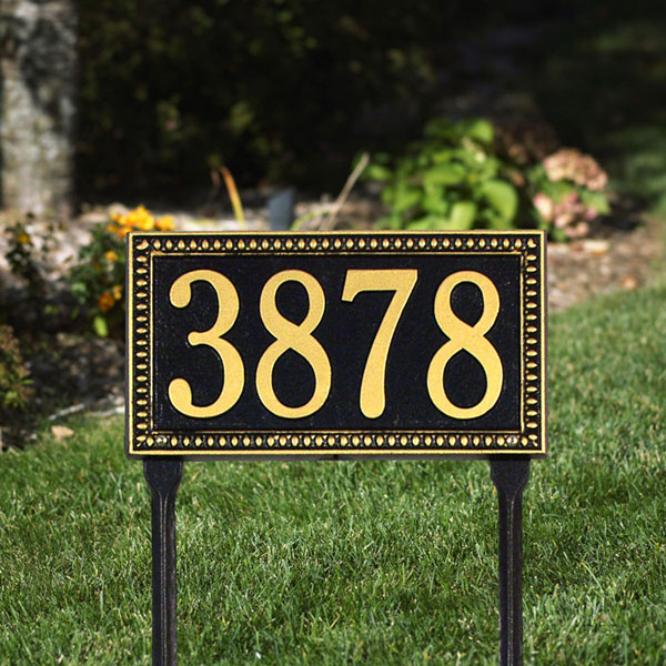 "13""W x 7 1/4""H Egg & Dart One Line Lawn Plaque"