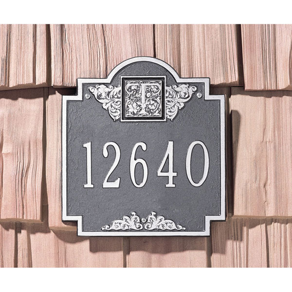 "10 3/4""W x 11 3/4""H Monogram One Line Wall Plaque"