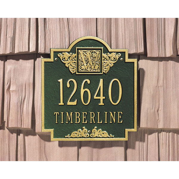 "10 3/4""W x 11 3/4""H Monogram Two Line Wall Plaque"