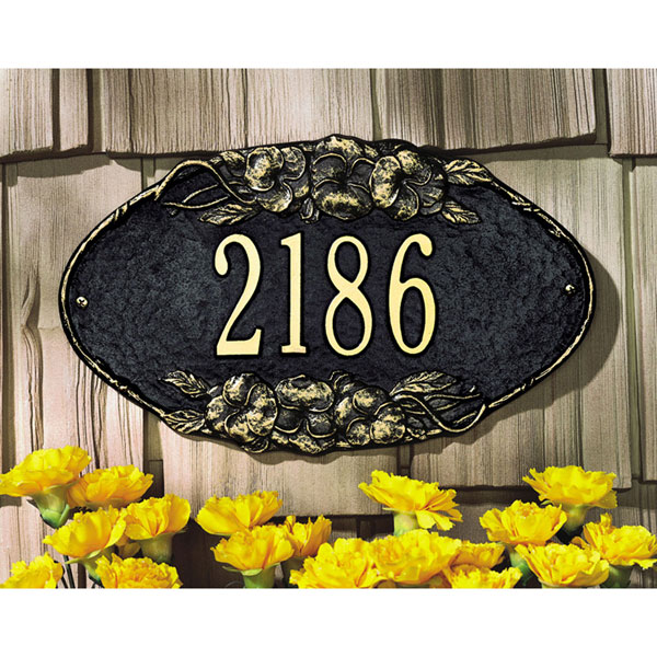 "13 1/2""W x 7 3/4""H Pansy One Line Wall Plaque"
