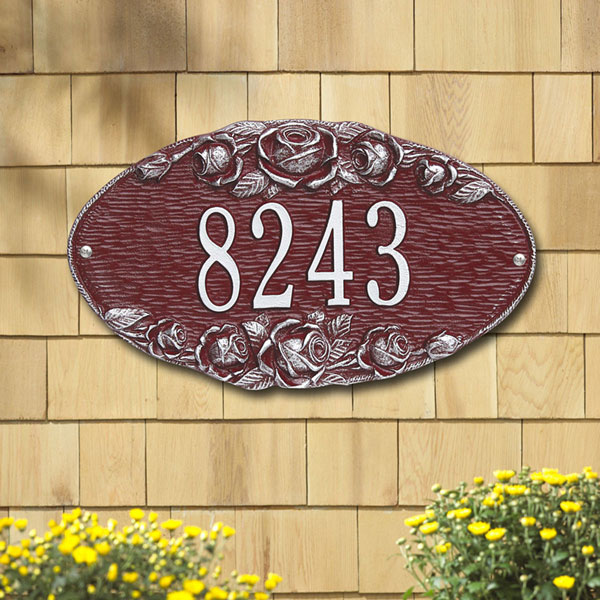"13 1/2""W x 7 3/4""H Rose Oval One Line Wall Plaque"