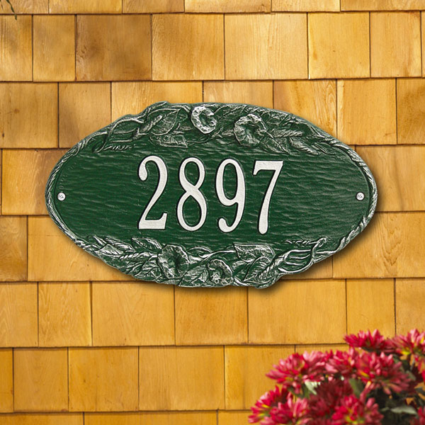 """13 1/2""""W x 7 3/4""""H Morning Glory Oval One Line Wall Plaque"""