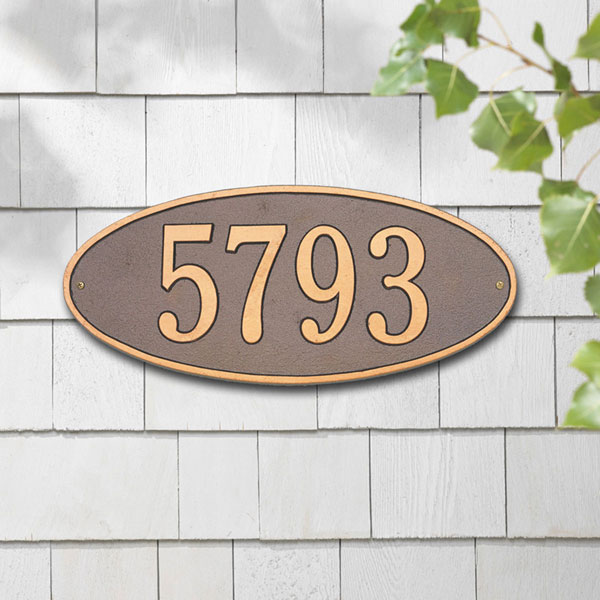 "17 1/2""W x 7 3/4""H Madison Oval One Line Wall Plaque"