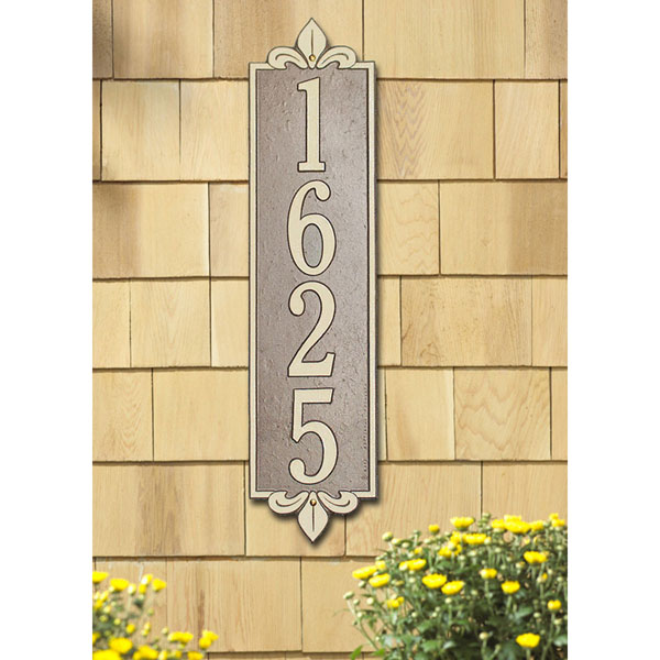 "6""W x 25""H Lyon Vertical One Line Wall Plaque"