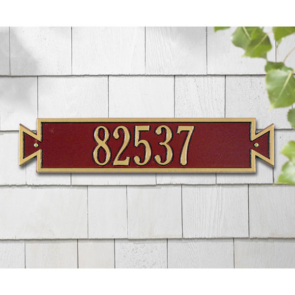 "19""W x 4""H Exeter Horizontal One Line Wall Plaque"