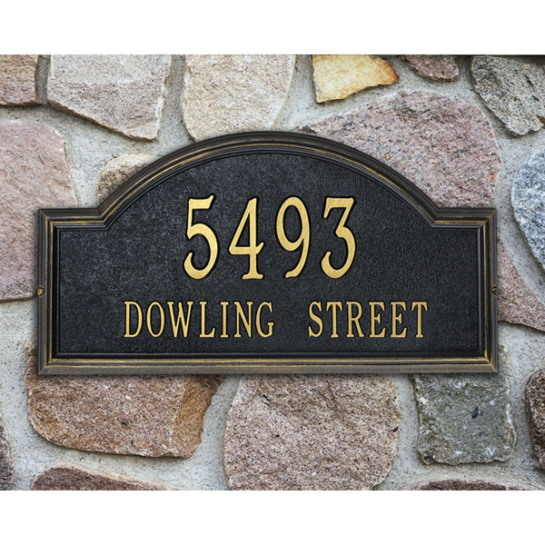 "22 1/2""W x 12""H x 1 1/4""D Providence Arch Two Line Wall Plaque"