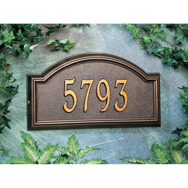 """17""""W x 9 1/2""""H x 1 1/4""""D Providence Arch One Line Wall Plaque"""