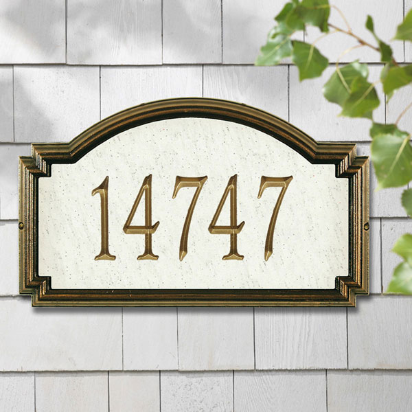 "20 1/2""W x 12""H x 1 1/4""D Williamsburg Artisan Stone One Line Wall Plaque"