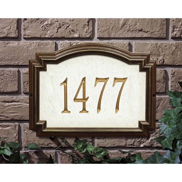 "14""W x 10 1/2""H x 1 1/4""D Williamsburg Artisan Stone One Line Wall Plaque"