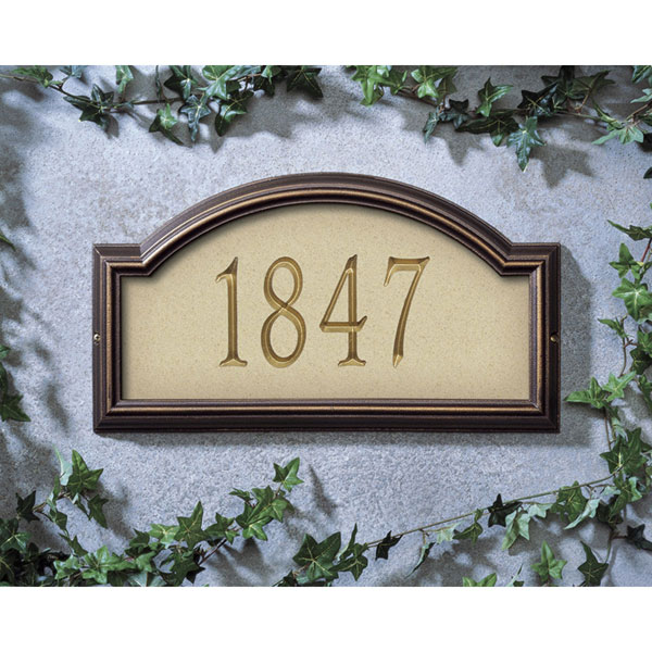 """17""""W x 9 1/2""""H x 1 1/4""""D Providence Artisan Stone One Line Wall Plaque"""