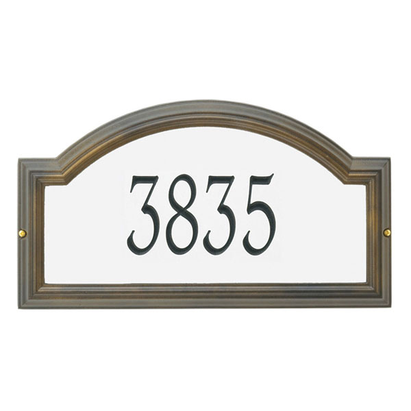 "22 1/2""W x 12""H x 1 1/4""D Providence Arch Reflective Wall Plaque One Line"
