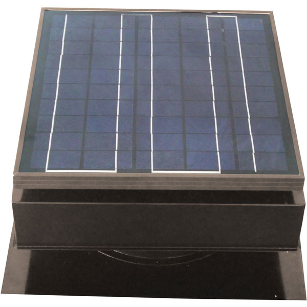 Solar Attic Fan, Roof Mount 25 Watt, Gray