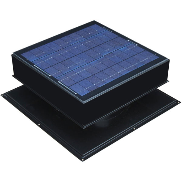 Solar Attic Fan, Roof Mount 30 Watt, Black