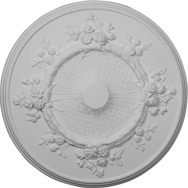 "27""OD x 1 1/8""P Flower Ceiling Medallion (Fits Canopies up to 3 7/8"")"