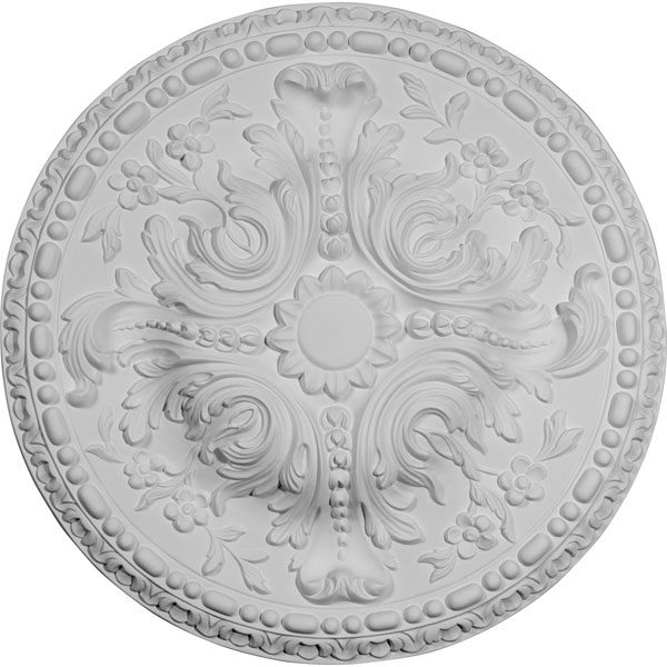 """19 5/8""""OD x 3/4""""P Amelia Ceiling Medallion (Fits Canopies up to 2 3/8"""")"""