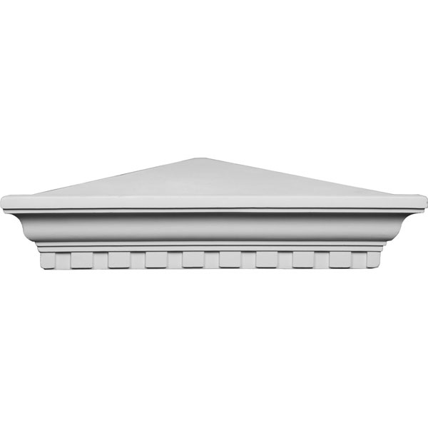 "22 3/4""W x 16 1/4""P x 4 5/8""H Dentil Corner Shelf"