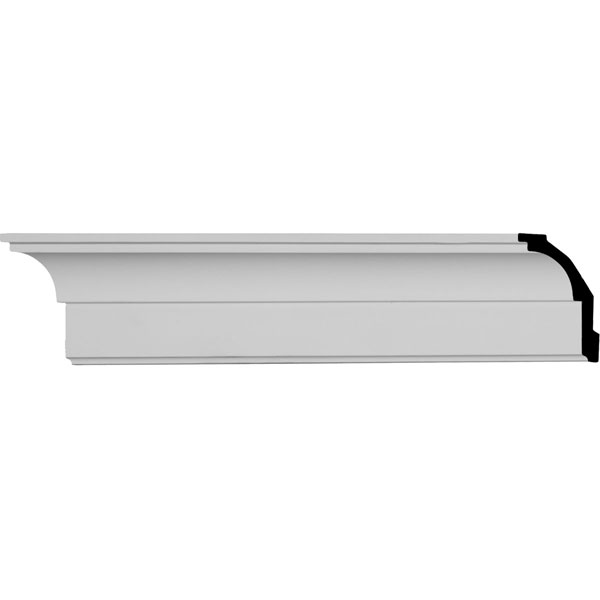"""SAMPLE - 3 5/8""""H x 2 1/2""""P x 4 5/8""""F x 12""""L Classic Smooth Crown Moulding"""