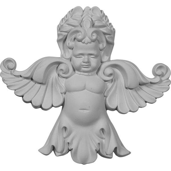 "6 1/2""W x 7 1/8""H x 1 3/8""P Angel Onlay"