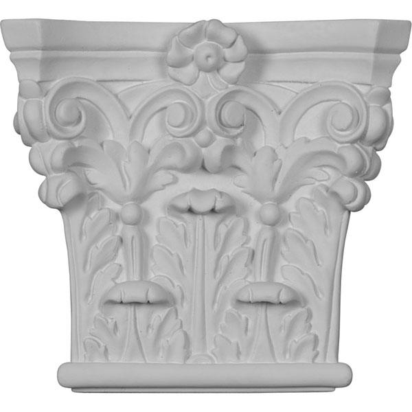 "7""W x 6 3/8""H x 1 3/4""P Corinthian Pilaster Capital (Fits Pilasters up to 4 3/8""W x 7/8""D)"