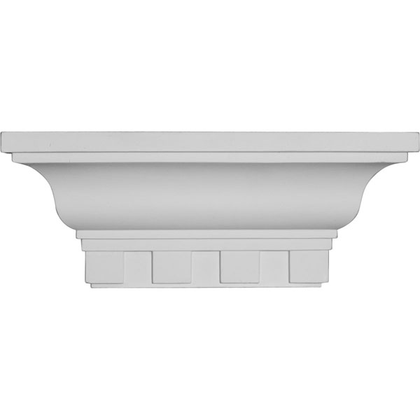 "12""W x 4 1/2""H x 4 1/8""P Dentil Shelf"