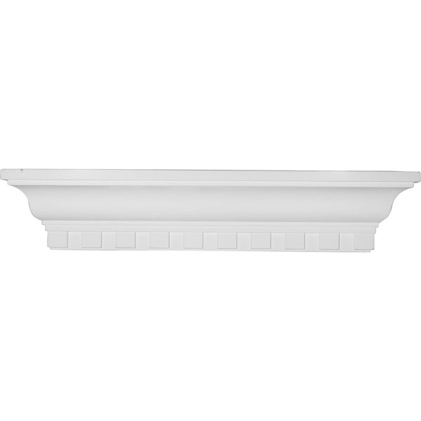 "24""W x 4 1/2""H x 4 1/8""P Dentil Shelf"