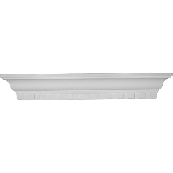 "30""W x 4 1/2""H x 4 1/8""P Dentil Shelf"