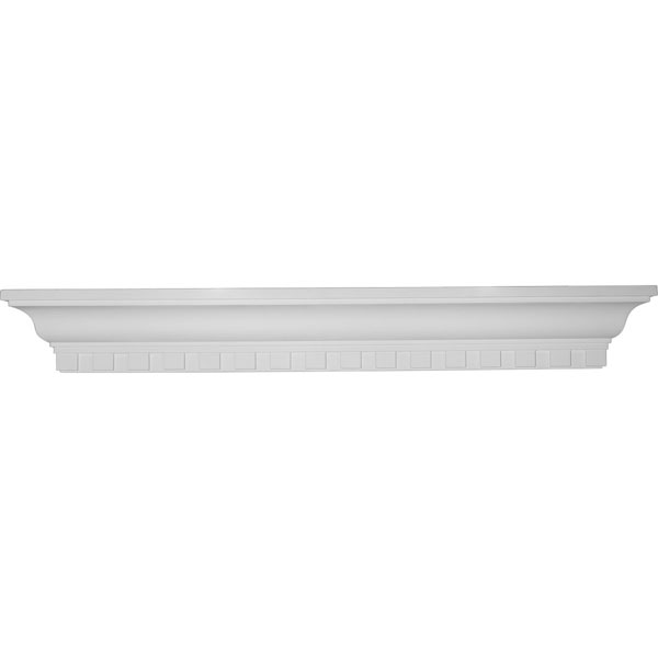 "36""W x 4 1/2""H x 4 1/8""P Dentil Shelf"